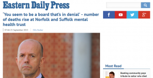 EDP: 'You seem to be a board that's in denial' - number of deaths rise at Norfolk and Suffolk mental health trust