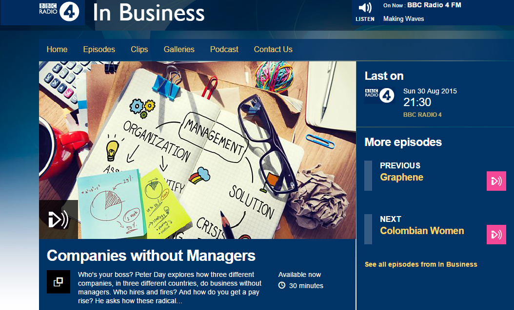 Radio 4 In Business Companies without Managers