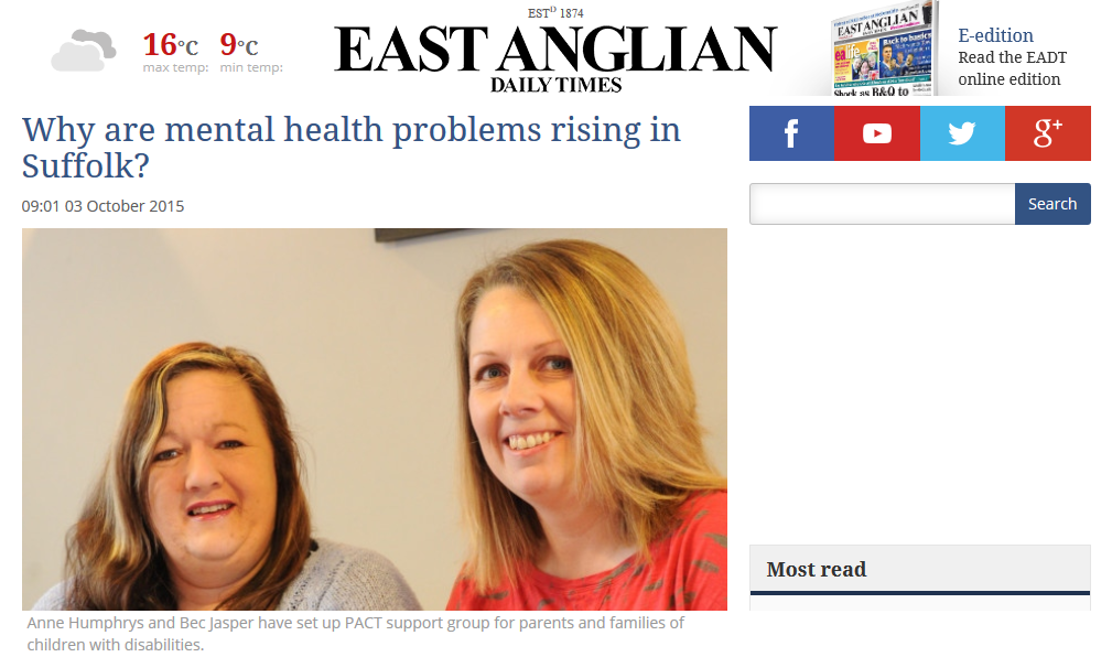 EADT Why are mental health problems rising in Suffolk