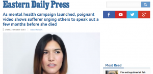 EDP: As mental health campaign launched, poignant video shows sufferer urging others to speak out a few months before she died