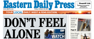 EDP launches its 'Mental Health Watch' campaign on front page