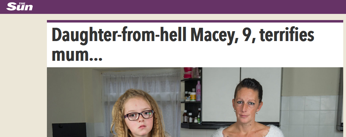 The Sun Daughter-from-hell Macey, 9, terrifies mum... and even tried to strangle her