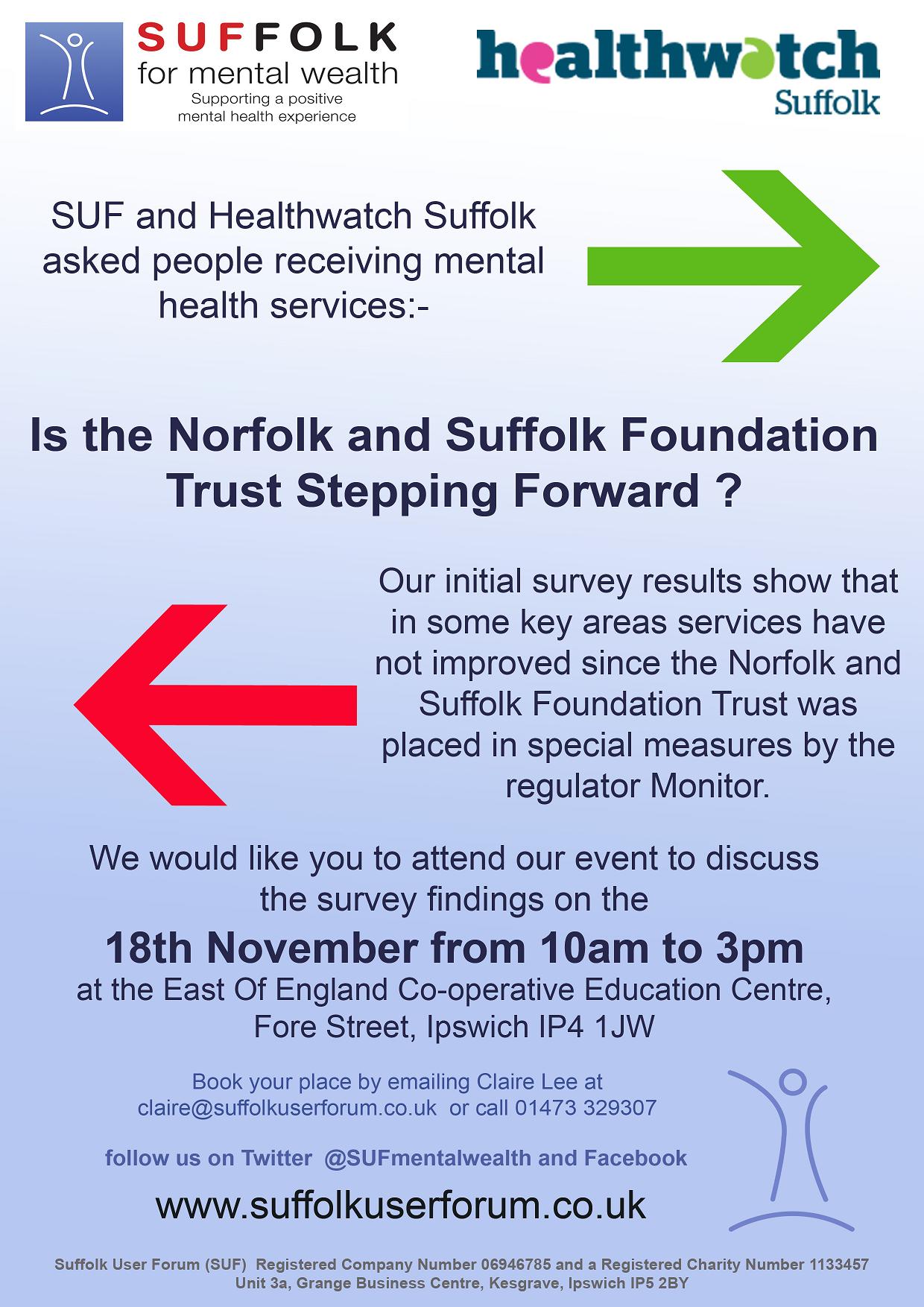 Healthwatch Suffolk Stepping Back Flyer