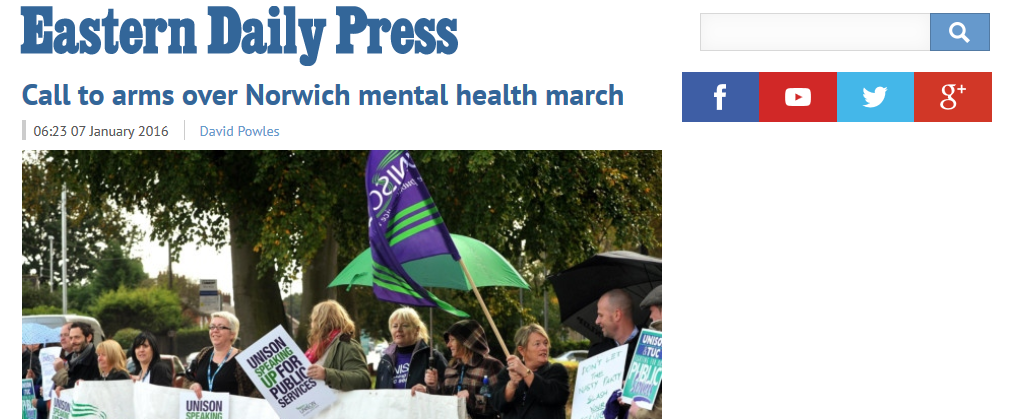 EDP Call to arms over Norwich mental health march