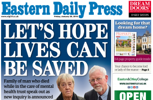 EDP: Let's hope lives can be saved