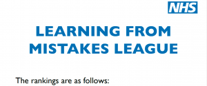 Monitor: NSFT placed 223rd in NHS Learning from Mistakes League table