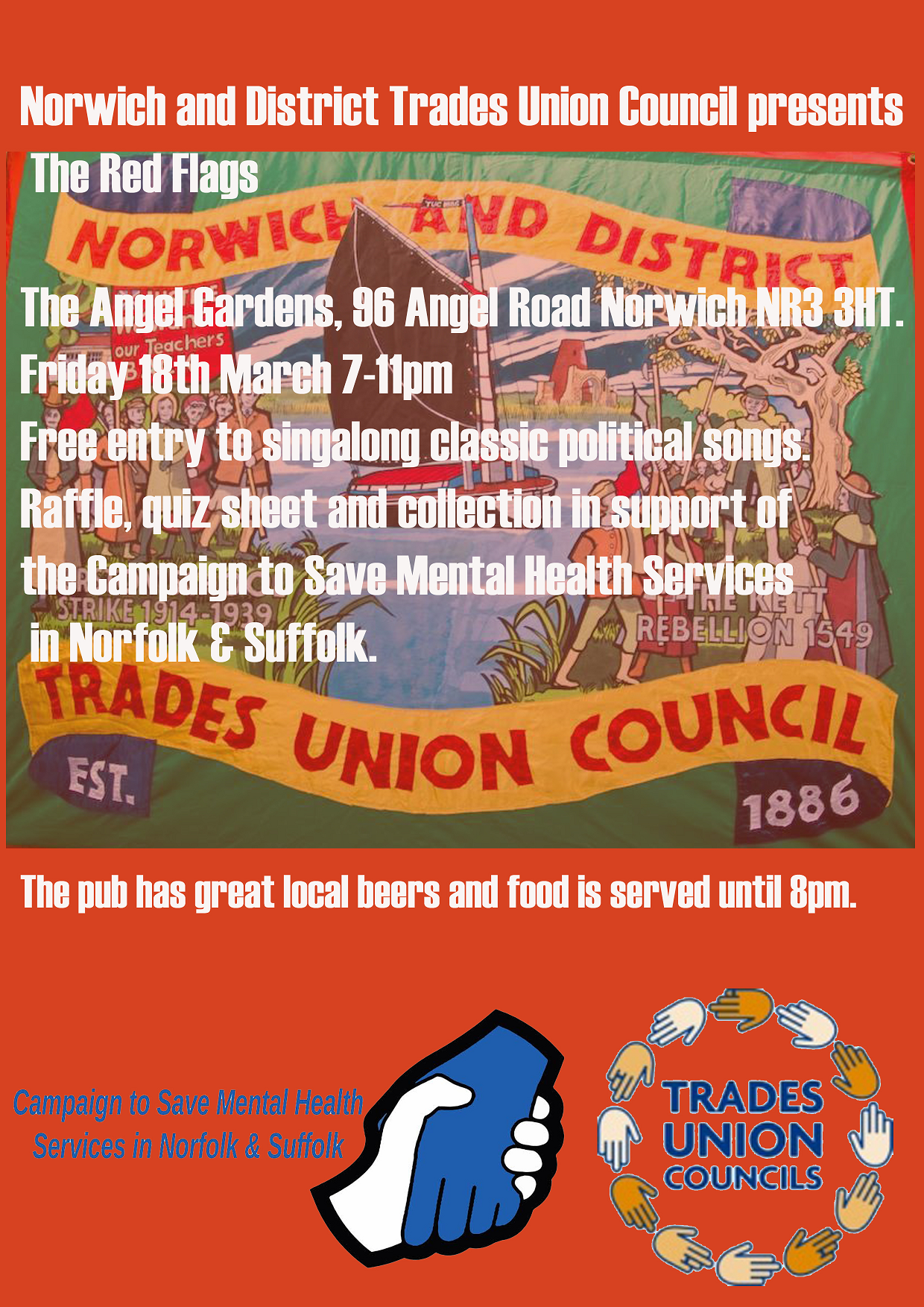 Norwich and District TUC fundraiser reduced