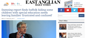 EADT: Damning report finds Suffolk failing some children with special education needs leaving families 'frustrated and confused'