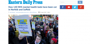 Beds Crisis: EDP: How 140 NHS mental health beds have been cut in Norfolk and Suffolk