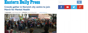 EDP: Crowds gather in Norwich city centre to join March for Mental Health