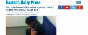 Beds Crisis: EDP: Man spends nearly three days in police custody waiting for a mental health bed