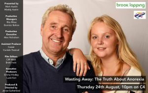 C4: Wasting Away: The Truth About Anorexia: Thursday 24th August 2017 at 10 p.m.