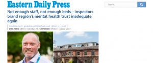 EDP: Not enough staff, not enough beds - inspectors brand region's mental health trust inadequate again