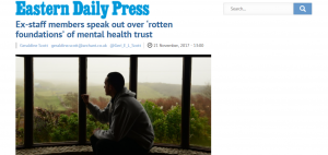 EDP: Ex-staff members speak out over 'rotten foundations' of mental health trust