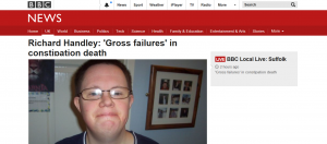 BBC News: Richard Handley: 'Gross failures' in constipation death