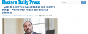 EDP: 'I want to get my sleeves rolled up and improve things' - New mental health boss sets out priorities