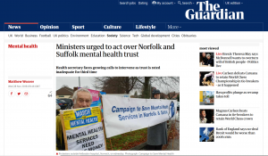 The Guardian: Ministers urged to act over Norfolk and Suffolk mental health trust