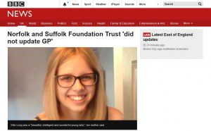 BBC News: Norfolk and Suffolk Foundation Trust 'did not update GP'