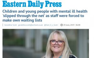 EDP: Children and young people with mental ill health 'slipped through the net' as staff were forced to make own waiting lists