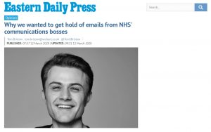 EDP: Opinion: Why we wanted to get hold of emails from NHS' communications bosses