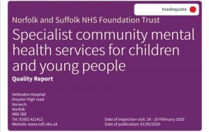 CAMHS Crisis: Service Director of NSFT's Children, Families and Young People's mental health services, Rob Mack, needs 'signposting' - out of the door