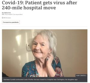 BBC News: Covid-19: Patient gets virus after 240-mile hospital move